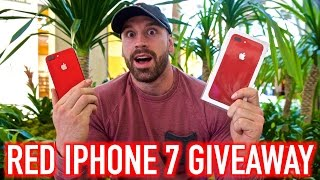 RED IPHONE 7 GIVEAWAY