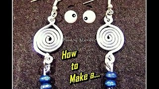 "getlinkyoutube.com-Como Hacer ""Pendientes en alambre(3)""//How to Make a ""Wire Pendant (3)"". By Puntoy Alambre"