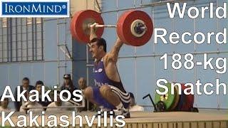 getlinkyoutube.com-IronMind Big Lift Series: Kakiashvilis 188-kg WR Snatch