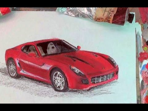How to Draw a Car Step by Step: Ferrari 599 GTB Car Drawing