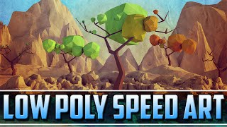 getlinkyoutube.com-Seasons, A Low Poly Speed Art (PERSONAL BEST) | C4D + PS