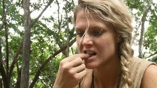 getlinkyoutube.com-Grateful for Toasted Grubs | Naked and Afraid