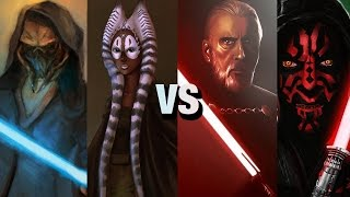 getlinkyoutube.com-Star Wars Versus Series: Plo Koon + Shaak Ti Vs Darth Tyranus + Darth Maul
