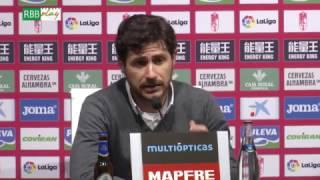 Rueda de prensa de Víctor Sánchez del Amo tras el partido ante el G...