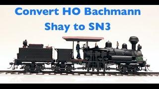 getlinkyoutube.com-How To Convert a HO Bachmann 3 Truck Shay To SN3 Narrow Gauge