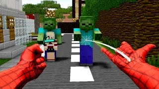 getlinkyoutube.com-REALISTIC MINECRAFT ~ STEVE BECOMES SPIDERMAN