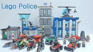 getlinkyoutube.com-Lego Police Station Time Laspe & Thief's All Car (60042 - 60049) Build