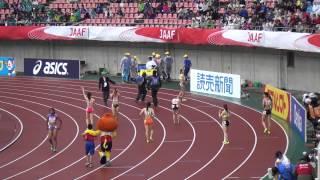 getlinkyoutube.com-2015日本選手権女子100m決勝 福島千里11.50(-0.3)Chisato FUKUSHIMA  宮澤有紀11.77土井杏南11.83