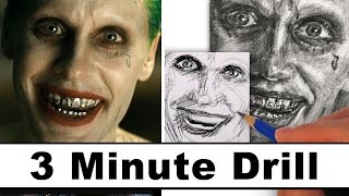getlinkyoutube.com-How to Draw the Joker from Suicide Squad - Jared Leto