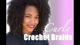 getlinkyoutube.com-Curly Crochet Braids Tutorial | Jasmine Defined