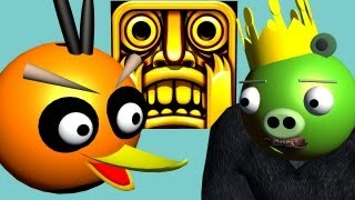 getlinkyoutube.com-TEMPLE RUN starring ANGRY BIRDS ♫ 3D animated  game mashup ☺ FunVideoTV - Style ;-))