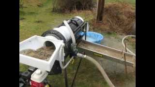 "getlinkyoutube.com-Testing my 2014 Homemade 12"" Portable Gold Mining Trommel Wash Plant"