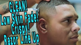 getlinkyoutube.com-Clean High Skin Fade | Motivation |  Master Barber Skills | Corte de pelo | Kv7