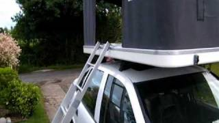 getlinkyoutube.com-Setting up an Autohome Maggiolina Airtop Maggiolina Air Top Roof Top Tent RTT Rooftent