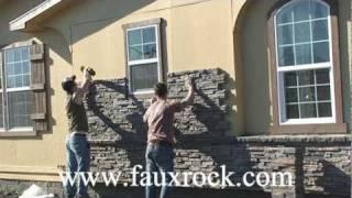 getlinkyoutube.com-Installation Stacked Stone Veneer Panels over using cultured stone- part-2