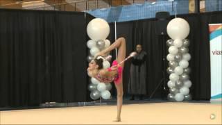 getlinkyoutube.com-Katherine Savchenko - Junior FIG Clubs - 2016 Rhythmic Gymnastics Elite Canada Championships