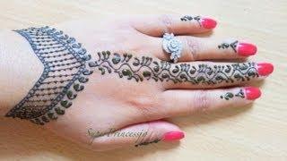 getlinkyoutube.com-Simple Henna Mehendi Designs | Step by Step TUTORIAL |SuperPrincessjo