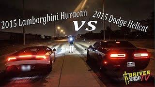 getlinkyoutube.com-2015 Lamborghini Huracan Vs 2015 Dodge Hellcat ( F