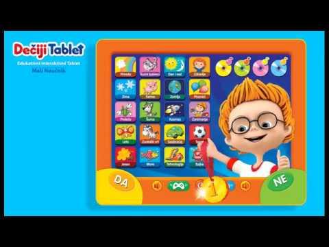 Dečiji tablet MALI NAUČNIK video