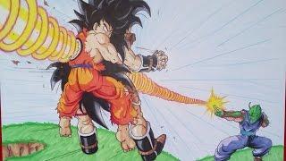 getlinkyoutube.com-Goku & Piccolo VS Raditz | Special Beam Cannon | TolgArt