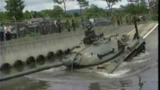 74式戦車 Type74  超貴重clip's  「戦車潜水渡渉訓練」