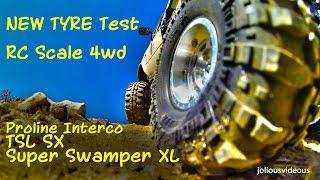 getlinkyoutube.com-RC Scale 4wd  ProLine Interco TSL SX Super Swamper XL   New Tyre Test