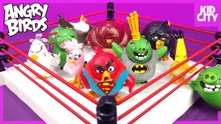 getlinkyoutube.com-The Angry Birds Movie Shake Rumble Game with Blind Bag MiniFigures by KidCity