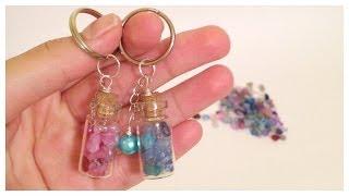 getlinkyoutube.com-Como hacer llaveros con mini botellas\key holder with tiny bottles