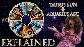 ☉ Sun in Taurus + Aquarius Asc (rising sign) HD width=
