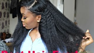 getlinkyoutube.com-Realstic looking hair!! ft Kinky Straight bundles (Bestlacewigs)