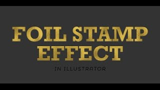 getlinkyoutube.com-How to Create a Foil Stamp Effect in Illustrator