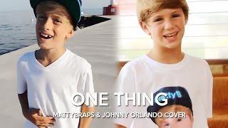 getlinkyoutube.com-One Direction - One Thing (MattyBRaps & Johnny Orlando cover)