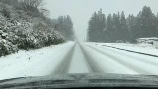 getlinkyoutube.com-【タイムラプス】雪の中、塩原から会津へフォレスターSHで行く!20170114撮影