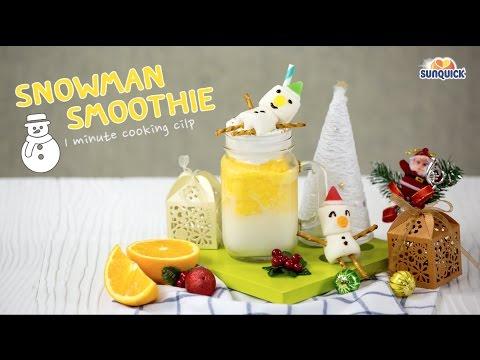 Snowman Smoothie  สูตรอาหาร วิธีทำ แม่บ้าน