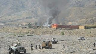 getlinkyoutube.com-Afghan Taliban attack US base near Pakistan border: officials