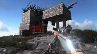 getlinkyoutube.com-ark survival evolved 5 T-REX taming and raiding a chinese base.