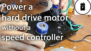 getlinkyoutube.com-Power a hard drive motor without a speed controller