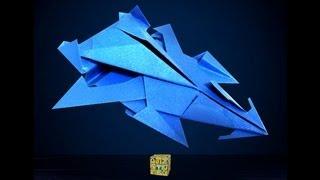 getlinkyoutube.com-Origami Stealth  car-TZ5  종이접기 자동차