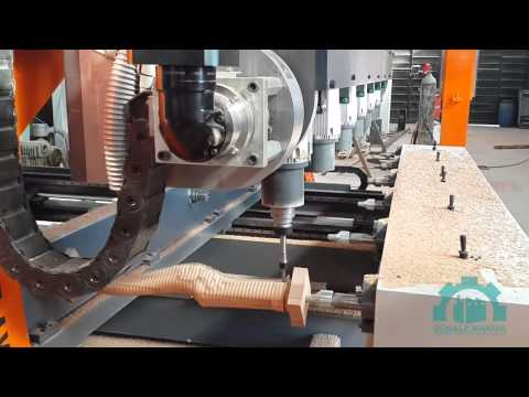 5 axis simultaneous cnc wood carving machine