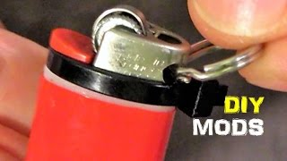 getlinkyoutube.com-Mini BIC Lighter Mods, Survival Key Chain Use