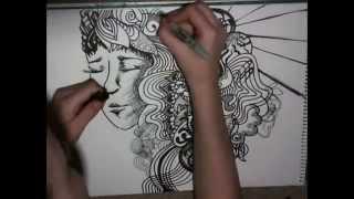 getlinkyoutube.com-Abstract Doodle Art Drawing