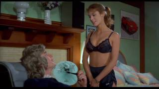 getlinkyoutube.com-Betsy Russell (Private School) Sexy striptease busty bra & shorts hot body - 720p