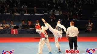 getlinkyoutube.com-The best actions at 2013 World Taekwondo Championships 58 kg and 46 kg