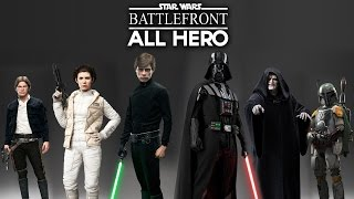getlinkyoutube.com-STAR WARS Battlefront - All Hero Character GAMEPLAY (Heroes & Villains Scenes) Intro & Outro