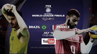 getlinkyoutube.com-Live: Brazil vs France - FIVB Volleyball World League Finals 2015