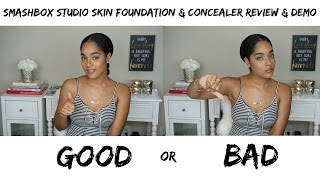 getlinkyoutube.com-Smashbox  Studio Skin Foundation and Concealer First Impression and Demo