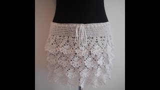 getlinkyoutube.com-how to crochet ruffle skirt free pattern tutorial