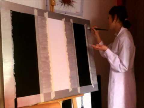 Pintando un cuadro sencillo y moderno