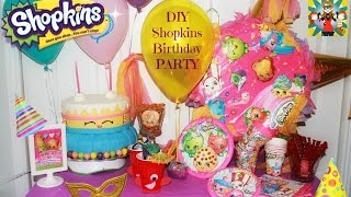 SHOPKINS PARTY  DIY ideas !! Centerpieces ,goodies bags and more..