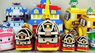 getlinkyoutube.com-Robocar Poli Roy fire car and Tayo bus toys